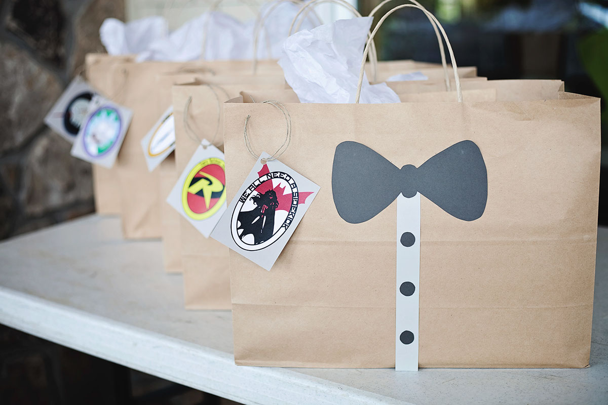 Gift bags with Labels